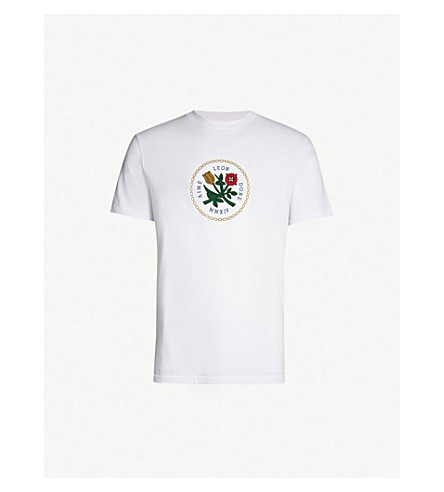 AIME LEON DORE Graphic-print cotton-jersey T-shirt (White