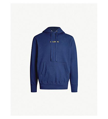 AIME LEON DORE Kanga logo-embroidered cotton-jersey hoody (Navy