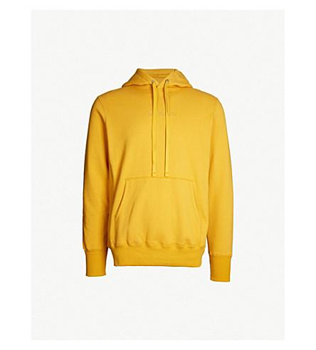 AIME LEON DORE Kanga logo-embroidered cotton-jersey hoody (Mustard