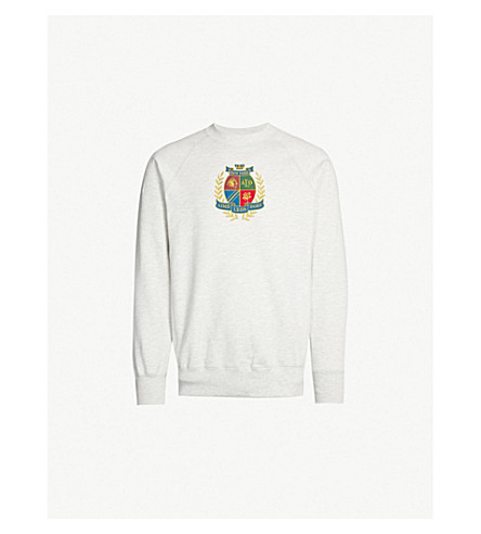 AIME LEON DORE Logo-embroidered cotton-jersey sweatshirt (Grey mix