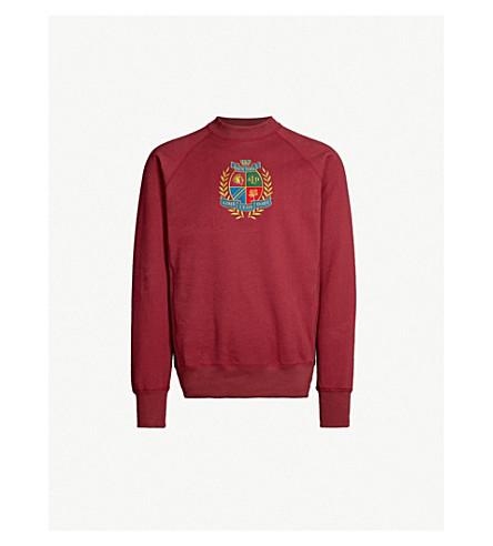 AIME LEON DORE Logo-embroidered cotton-jersey sweatshirt (Burgundy