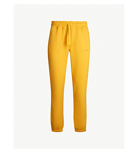 AIME LEON DORE Logo-print cotton-jersey jogging bottoms (Mustard