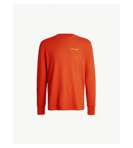 AIME LEON DORE Logo-print cotton-jersey top (Rust