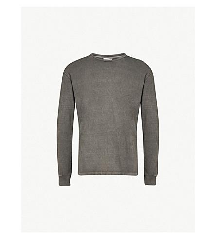 JOHN ELLIOTT Marble-dyed cotton-jersey top (Charcoal