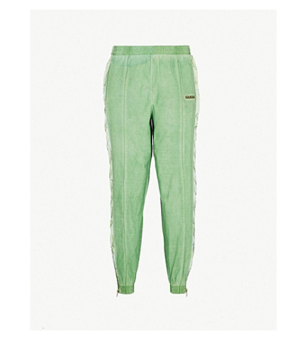 GUESS JEANS USA Farmers Market side-stripe skinny shell jogging bottoms (Organic+green