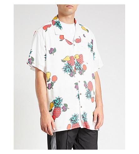 GUESS JEANS USA Farmers Market fruit-print regular-fit cotton shirt (Fruit