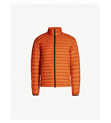 ECOALF Quilted shell-down jacket (Orange