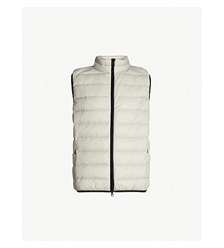 ECOALF Quilted shell-down gilet (Grey