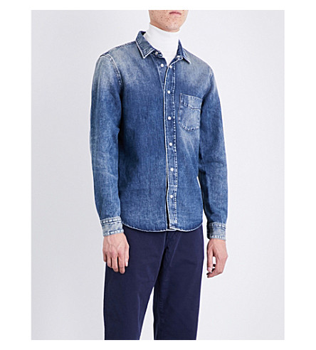 KENT & CURWEN Knole regular-fit denim shirt (Navy