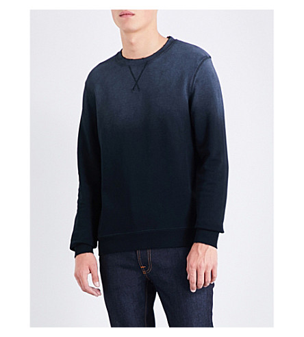 KENT & CURWEN Hutton cotton sweatshirt (Grey+black