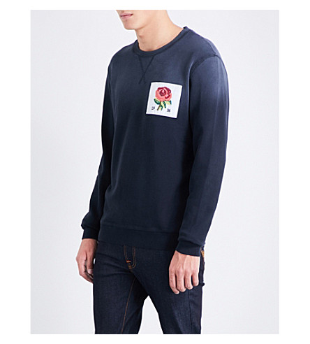KENT & CURWEN 1926 cotton sweatshirt (Frosted+navy