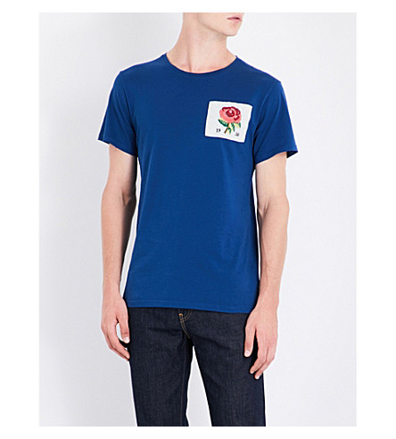 KENT & CURWEN Rose 1926 cotton T-shirt (Dark+royal