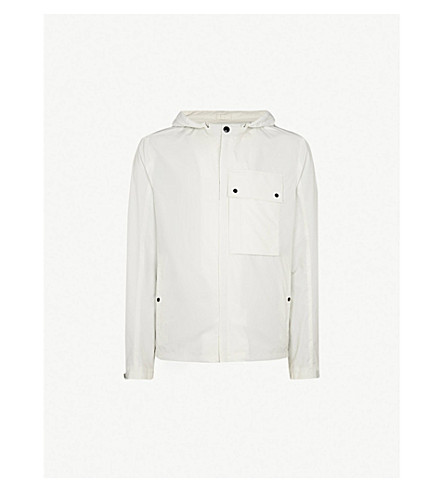 CP COMPANY Lens-embellished shell jacket (White