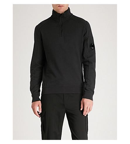 de con CP de alzado jersey COMPANY algodón Sudadera cuello Negro EnxqpgP