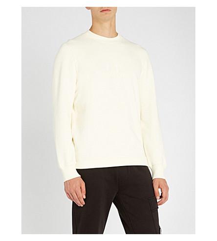 CP COMPANY Basic crew-neck sweatshirt with logo (White