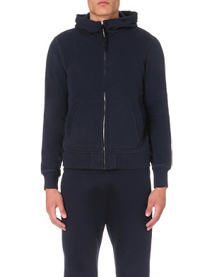 CP COMPANY Goggle-detailed cotton-jersey hoody