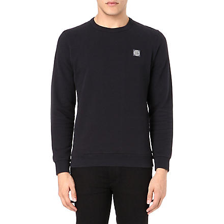 STONE ISLAND Badge logo sweatshirt (Navy