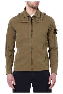 STONE ISLAND Detachable hood cotton-blend jacket