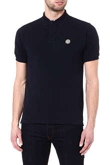 STONE ISLAND Pique cotton polo shirt