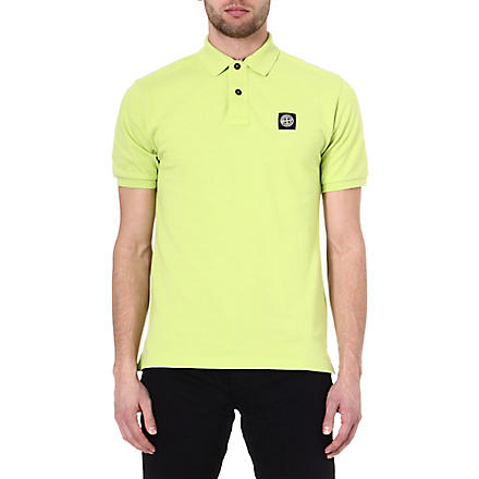 STONE ISLAND Pique cotton polo shirt (Green