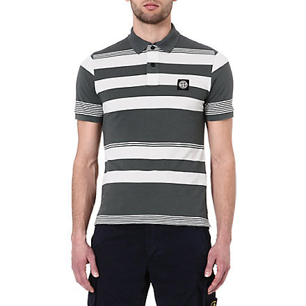STONE ISLAND Bold stripe polo shirt (Green