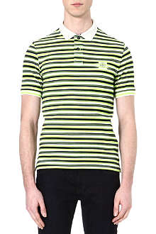 STONE ISLAND Stripe printed polo shirt
