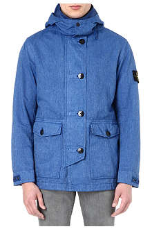 STONE ISLAND Patch pocket linen-blend jacket