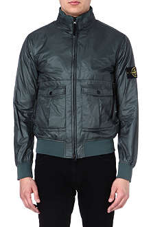 STONE ISLAND Zip-through bomber jacket