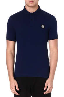 STONE ISLAND Cotton piqué polo shirt
