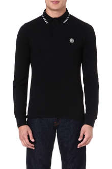 STONE ISLAND Long-sleeve polo shirt