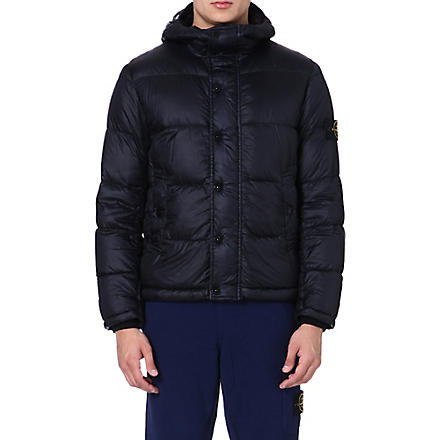 STONE ISLAND Quilted jacket (Bleu