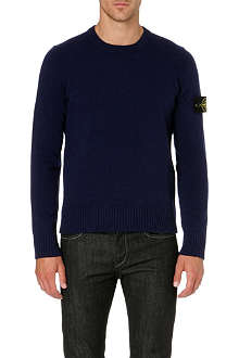 STONE ISLAND Logo badge crew-neck jumper