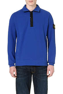 STONE ISLAND Badge logo half-zip sweatshirt