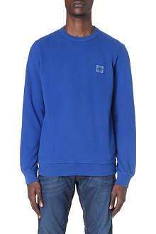 STONE ISLAND Patch-logo jersey sweatshirt