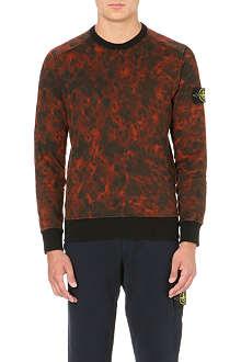 STONE ISLAND Camo-print sweatshirt