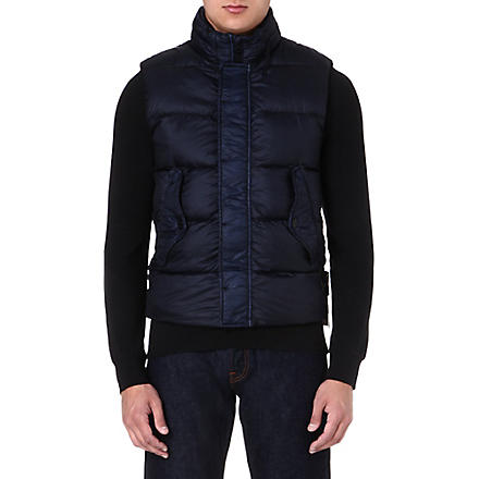 STONE ISLAND Quilted gilet (Bleu