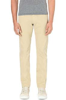 STONE ISLAND Canvas slim-fit trousers
