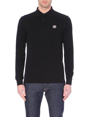 STONE ISLAND Cotton-piqué polo shirt