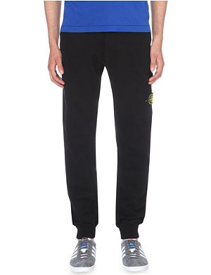 STONE ISLAND Brand-patch cotton-jersey jogging bottoms
