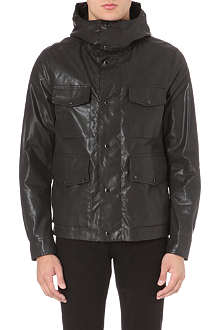 CP COMPANY Goggle-detailed oil-skin jacket