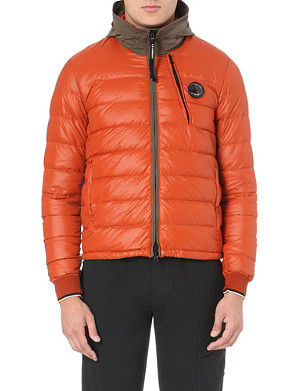 CP COMPANY Quilted garment-dyed coat