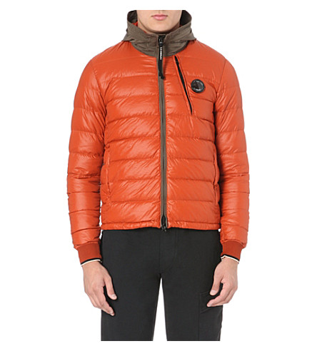 CP COMPANY Quilted garment-dyed coat (Orange