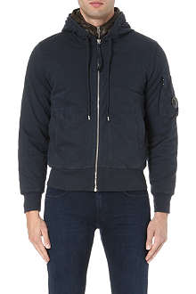 CP COMPANY Quilted-insert cotton-jersey hoody