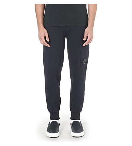 CP COMPANY Lens-logo cotton jogging bottoms (Midnight