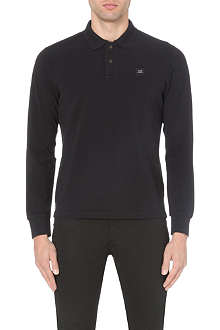 CP COMPANY Long-sleeved cotton-piqué polo shirt
