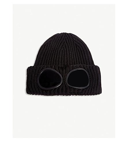 CP COMPANY Goggle lens wool beanie (Black