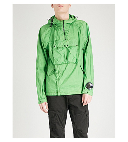 CP COMPANY Goggle-detail hooded shell jacket (Green