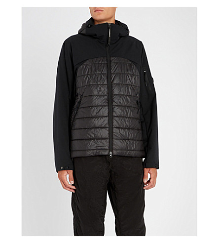 CP COMPANY Panelled padded shell jacket (Black