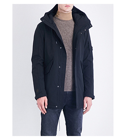 CP COMPANY Fleece-lined shell jacket (Black