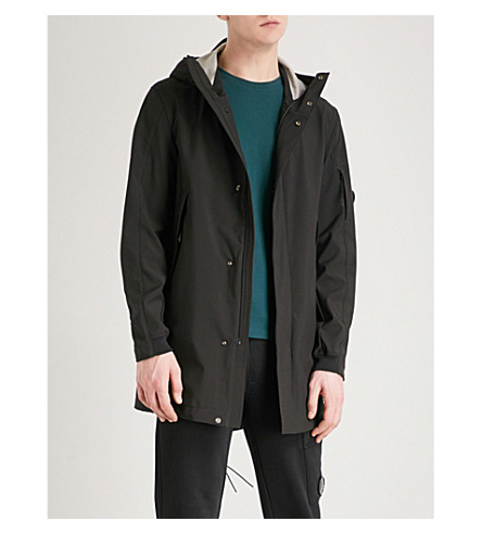 CP COMPANY Hooded shell parka jacket (Black